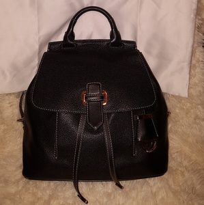 MK's Black leather Romy MD backpack/authentic